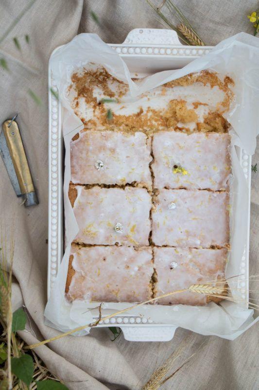 chamomile olive oil honey cake - twigg studios