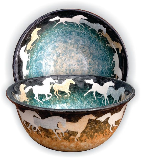 Decorative Ceramic Bowls Decorative Ceramic Bowls With Running Horse Design On Etsy $5500