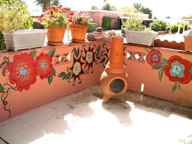 Mexican Garden wall. For my brick wall | paintings | Pinterest ...
