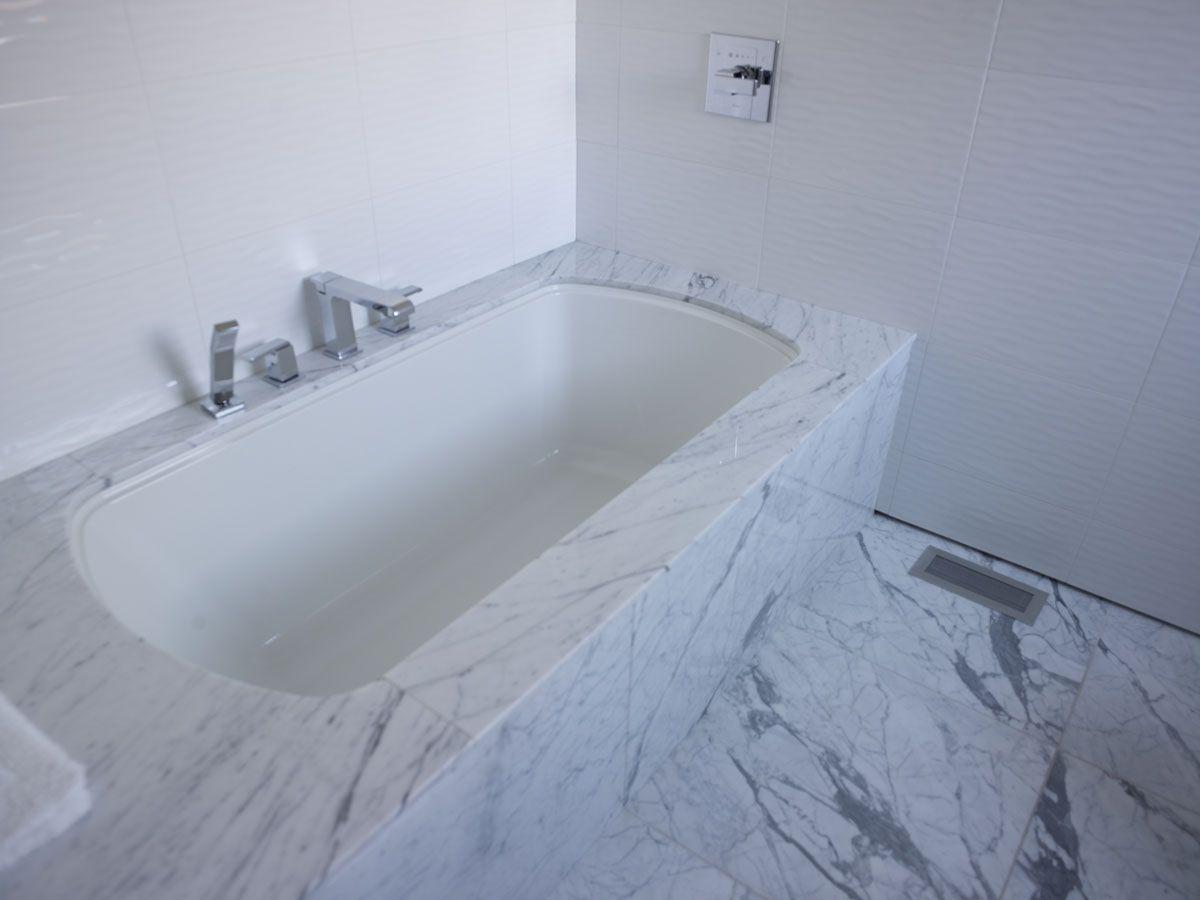 Swan Residence • Bianco Carrara Marble #bianco #carrara #marble ...