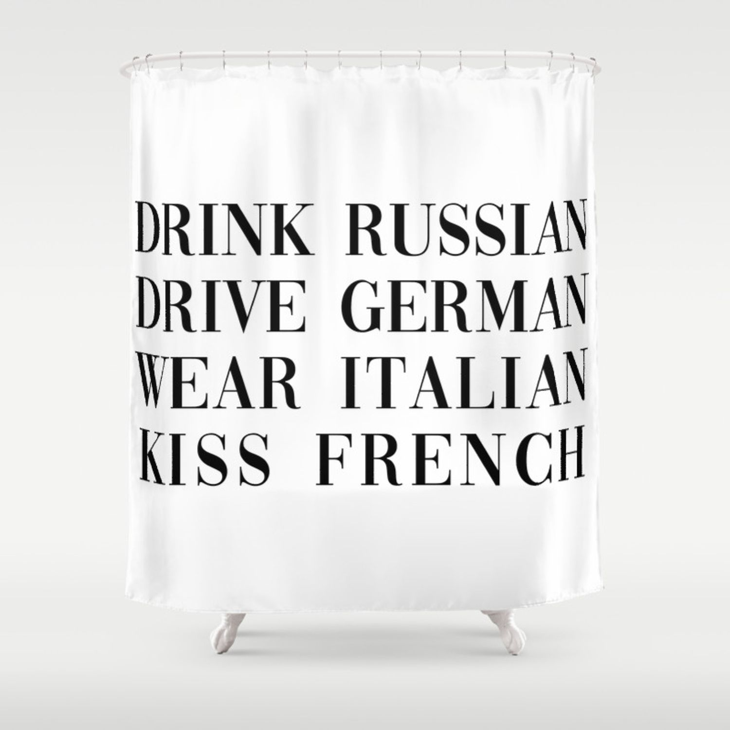 12 Of The Coolest Designs Of How To Make French Shower Curtain
