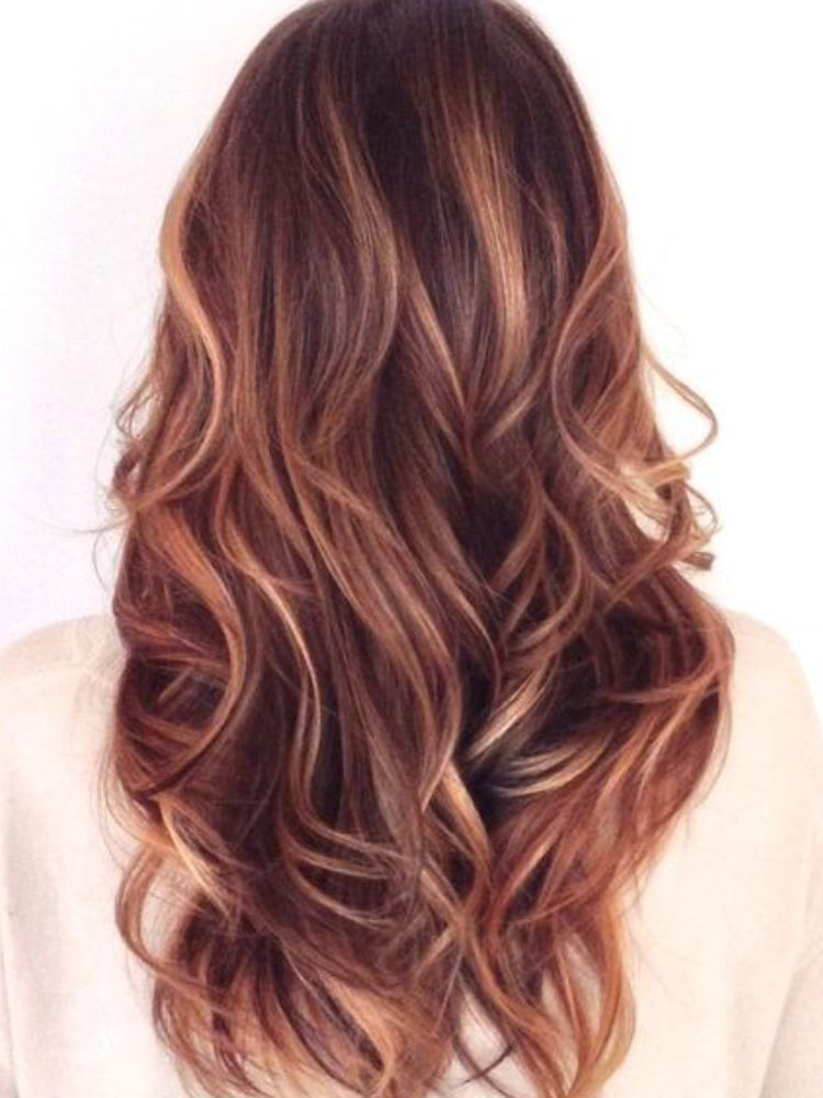 This Is Kinda Red Rose Gold Hair Color Flamboyage Hair Styles Long Hair Styles