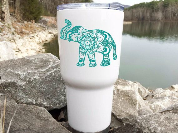 Tumbler Decal - Elephant Decal for Yeti - Elephant Decal