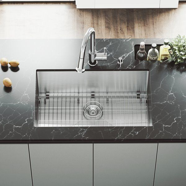 Vigo Kitchen Sink With Grid And Strainer 30 In Two Sink Stainless Steel Rona Farmhouse Sink Kitchen Apron Sink Kitchen Stainless Steel Faucets