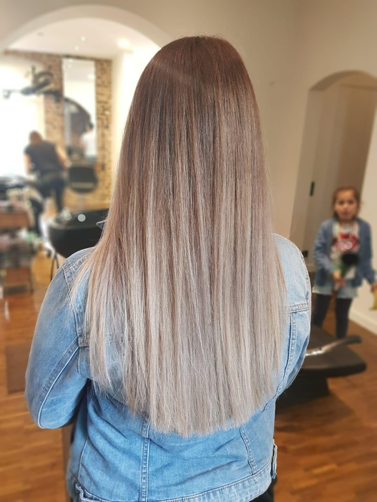 Lange Haare Braun Blonde Beige Haare Farben Soft Frisur