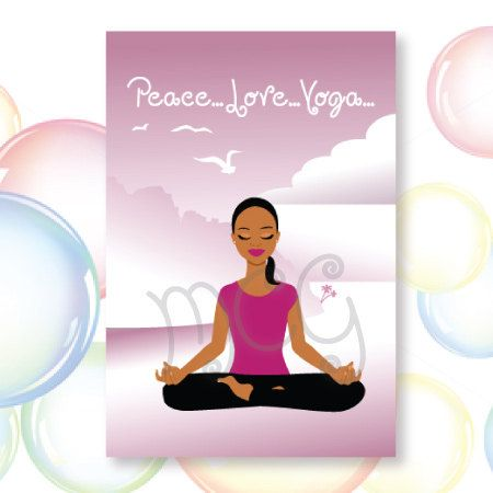 Peacelove greeting card by misscongenialitygirl on etsy yoga greeting card by misscongenialitygirl on etsy m4hsunfo