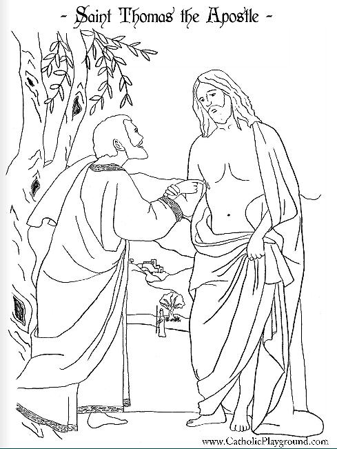Saint Thomas the Apostle Catholic coloring page: Patron of