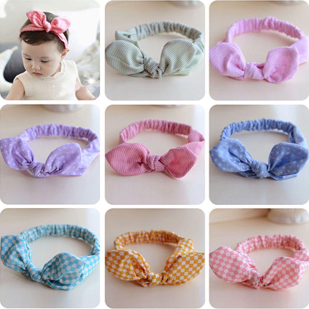 Toddle Baby Turban Bow Knot Hair Band Rabbit Ears Headwrap Floral Headband
