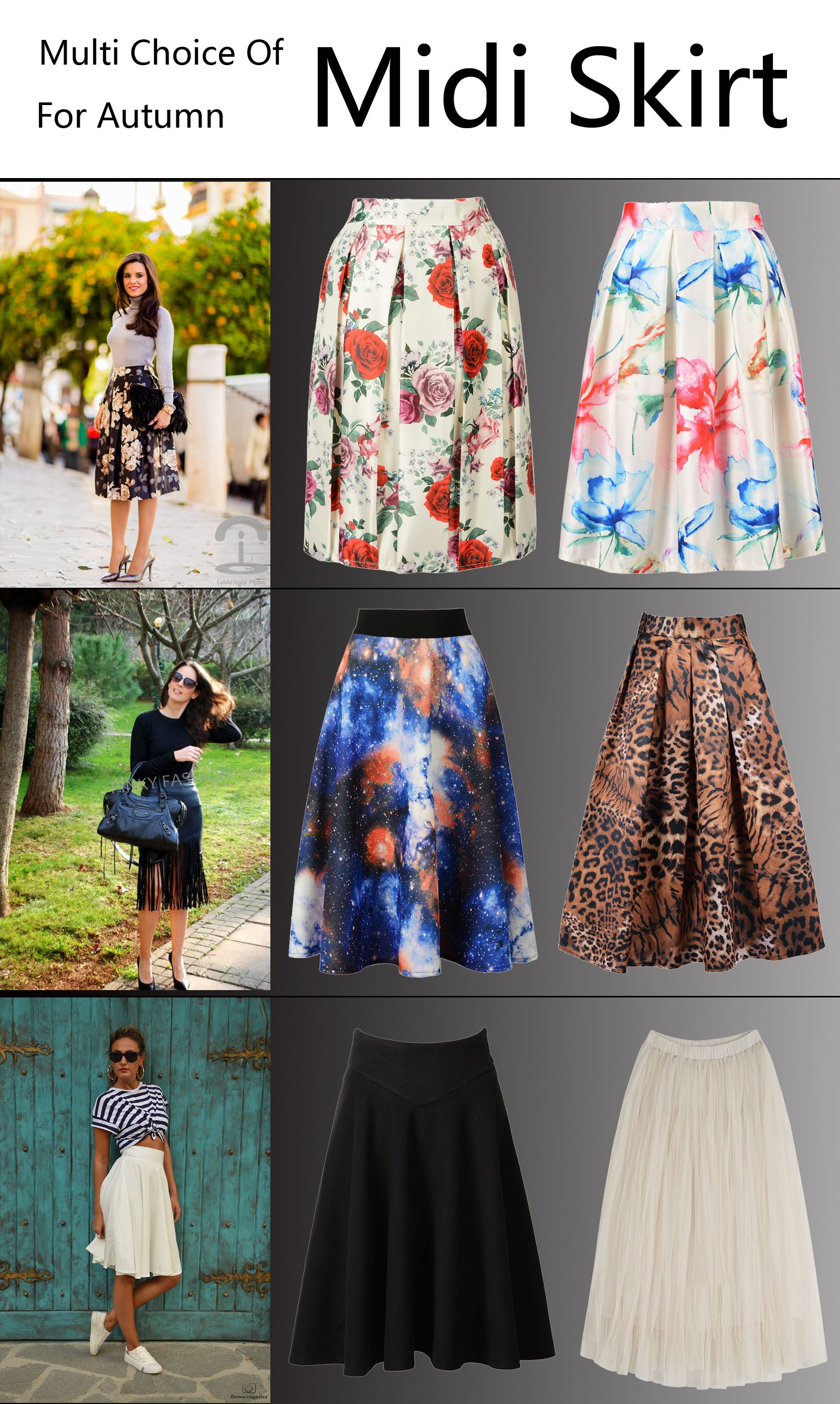 9f697d8ea27e3b All kinds of midi skirts from #Choies.com suitable for the autumn and  winter!you will look more stylish when you get one!