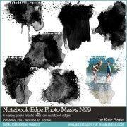 DesignerDigitals Notebook Edge Photo Masks No. 09