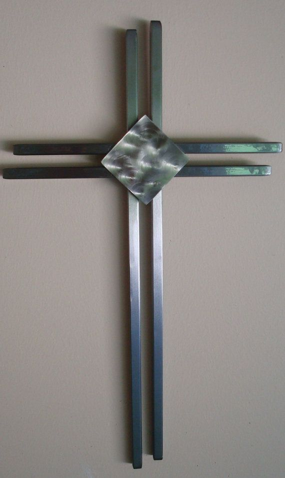 Hand Crafted Modern Metal Wall Cross By Jaysmetaldesigns