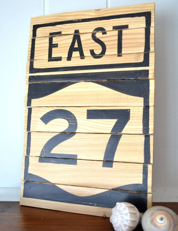 Wooden Decor Signs Simple 27 East Road Sign  Custom Road Signs Handpainted On Beach Inspiration