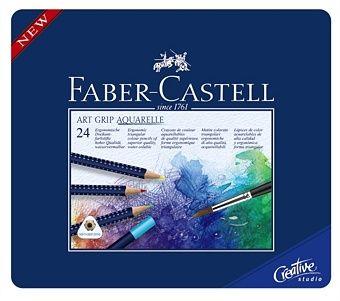 Faber Castell Creioane Colorate Art Grip 114224 Cutie Metal 24