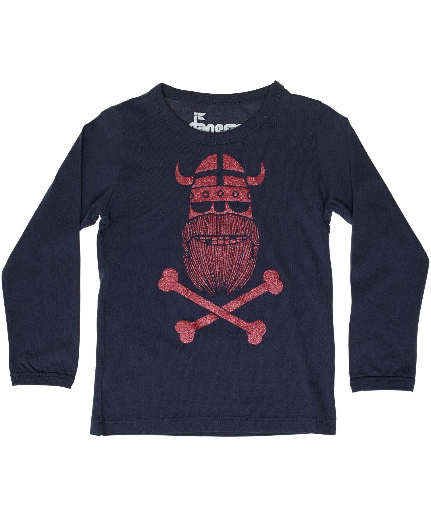 Finally a Viking for our tough girls! Danefae navy basic t-shirt with pink glitter ghost of Erik #emilea