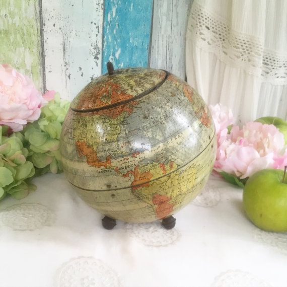 Rare antique 1906 globe tin litho box huntley palmers biscuit rare antique 1906 globe tin litho box huntley palmers biscuit canister old world mapsoffice gumiabroncs Image collections
