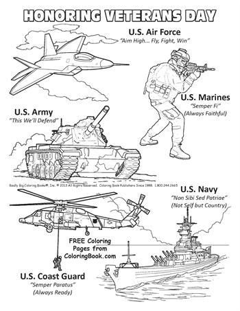 Free Online Coloring Pages - Veterans Day | Veteran Appreciation and ...