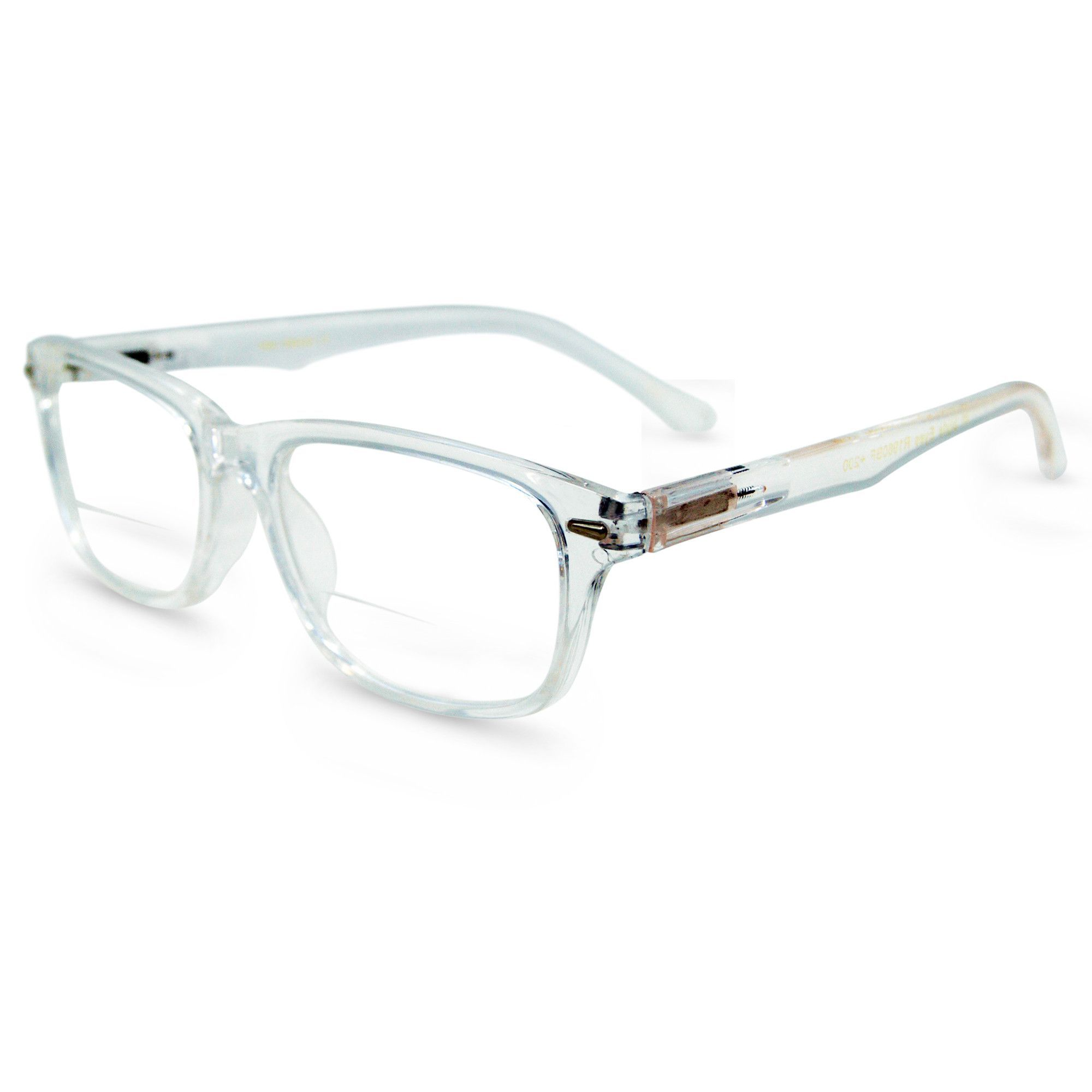 a3df4a7bfb In Style Eyes Seymore Wayfarer BiFocal Reading Glasses for Both Men   Women