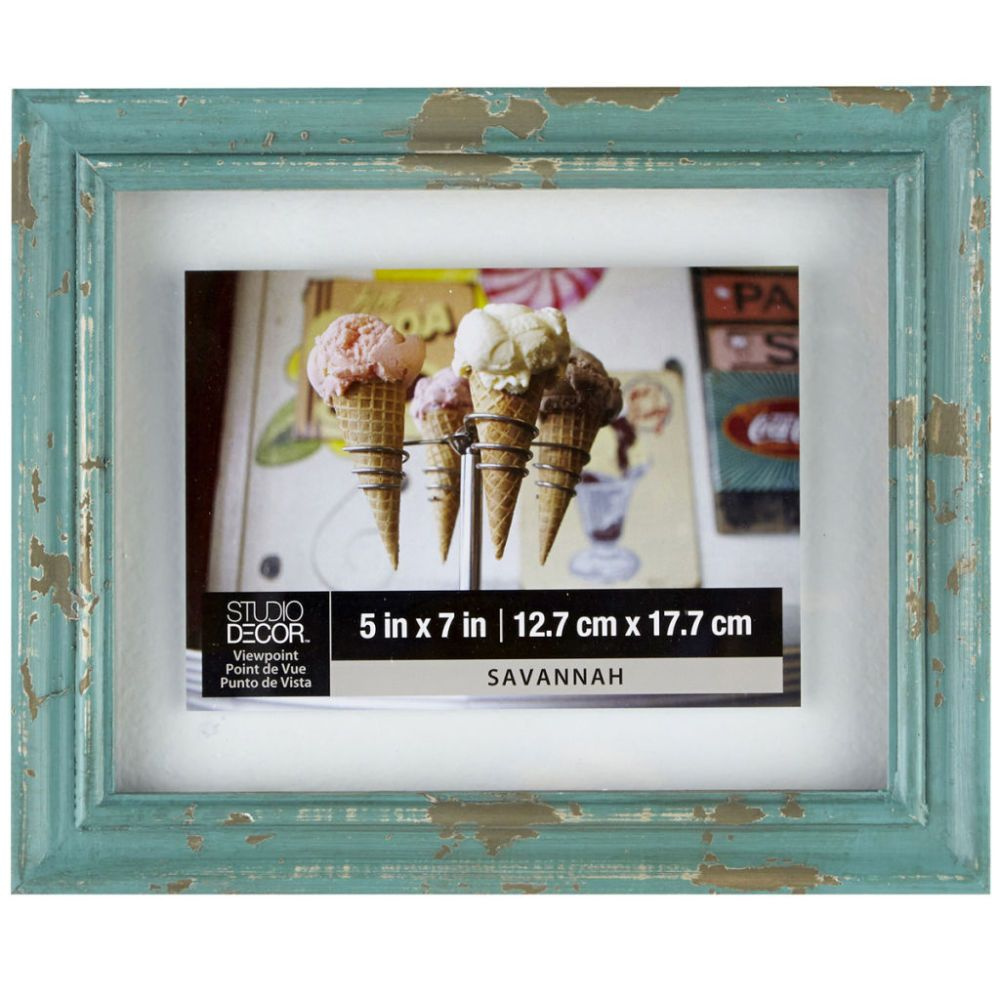 Blue Wood 8 X 10 Float Frame By Studio Decor Studio Decor Floating Frame Blue Wood