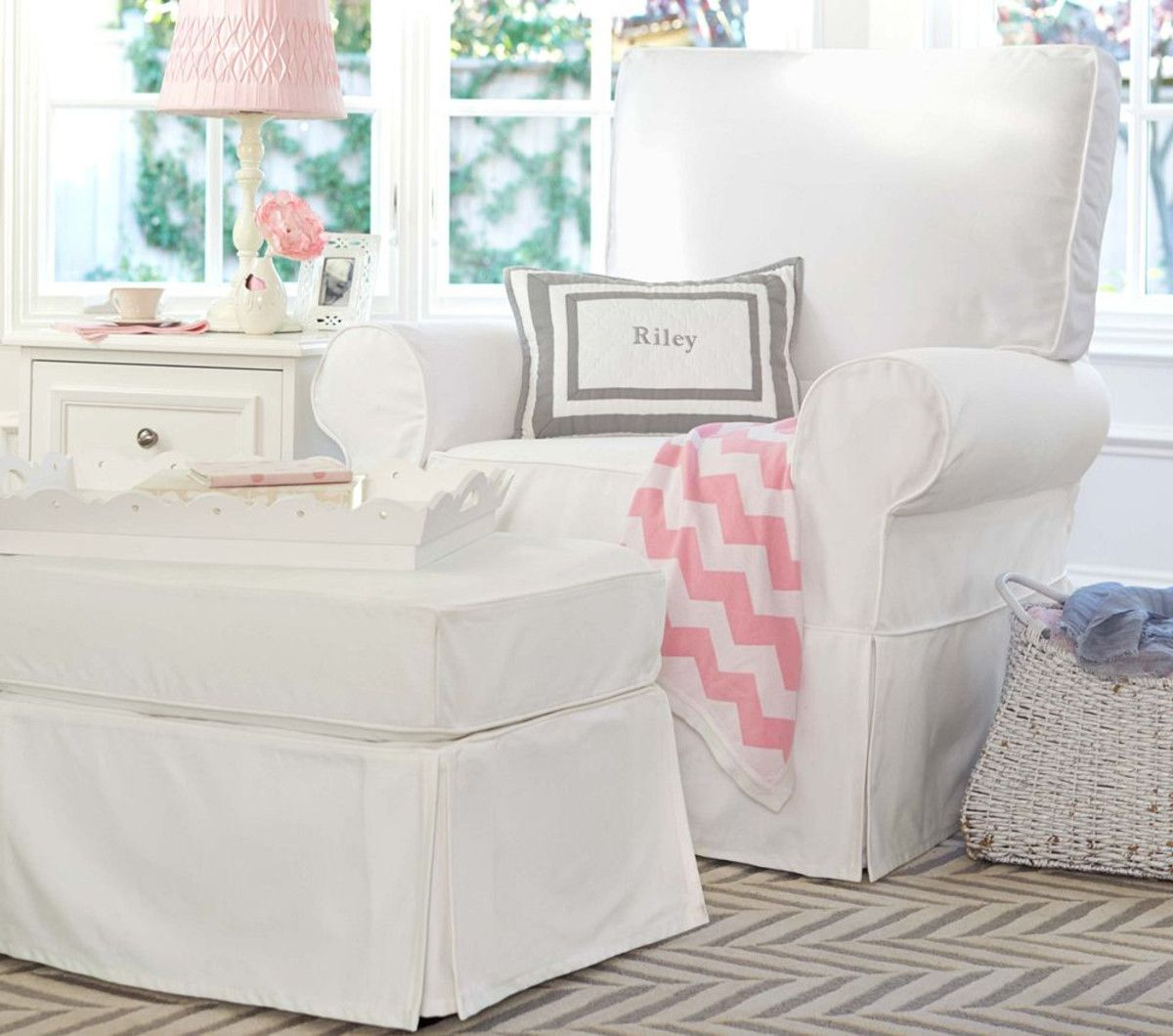 Peachy Nursery Comfort For Mum Comfort Glider Ottoman Pottery Uwap Interior Chair Design Uwaporg