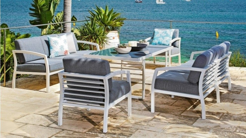 Mykonos 5 Piece Outdoor Lounge/Dining Setting - Outdoor Dining ...
