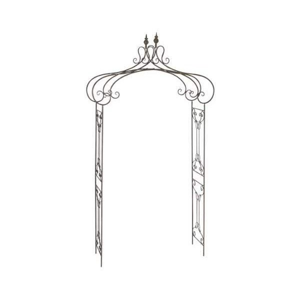 Aspire Home Accents 68701 Decorative Metal Garden Arch Antique ...