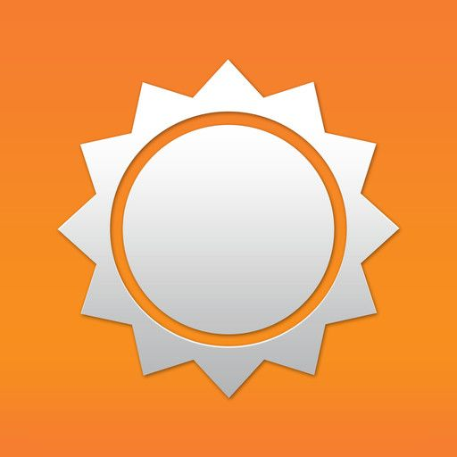 accuweather logo icon design favorites app Iphone