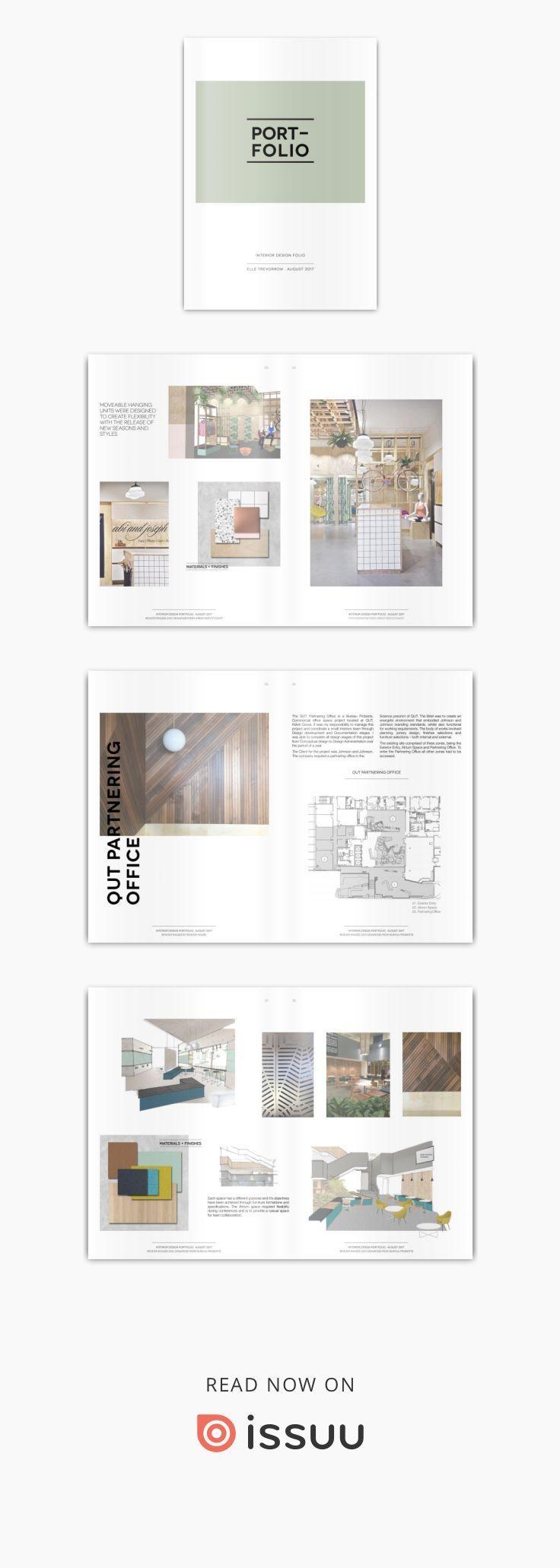 Innenarchitektur Portfolio   Career in 21   Portfolio design ...