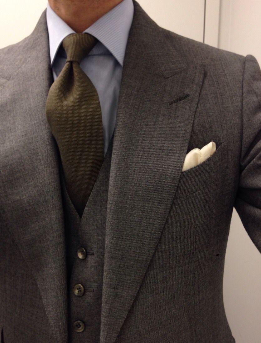 Green Tweed 3 Piece Suit