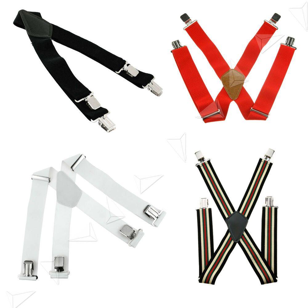 Men Harness Strap Belt Adjustable Braces Plain Heavy Duty Suspenders Elastic AT