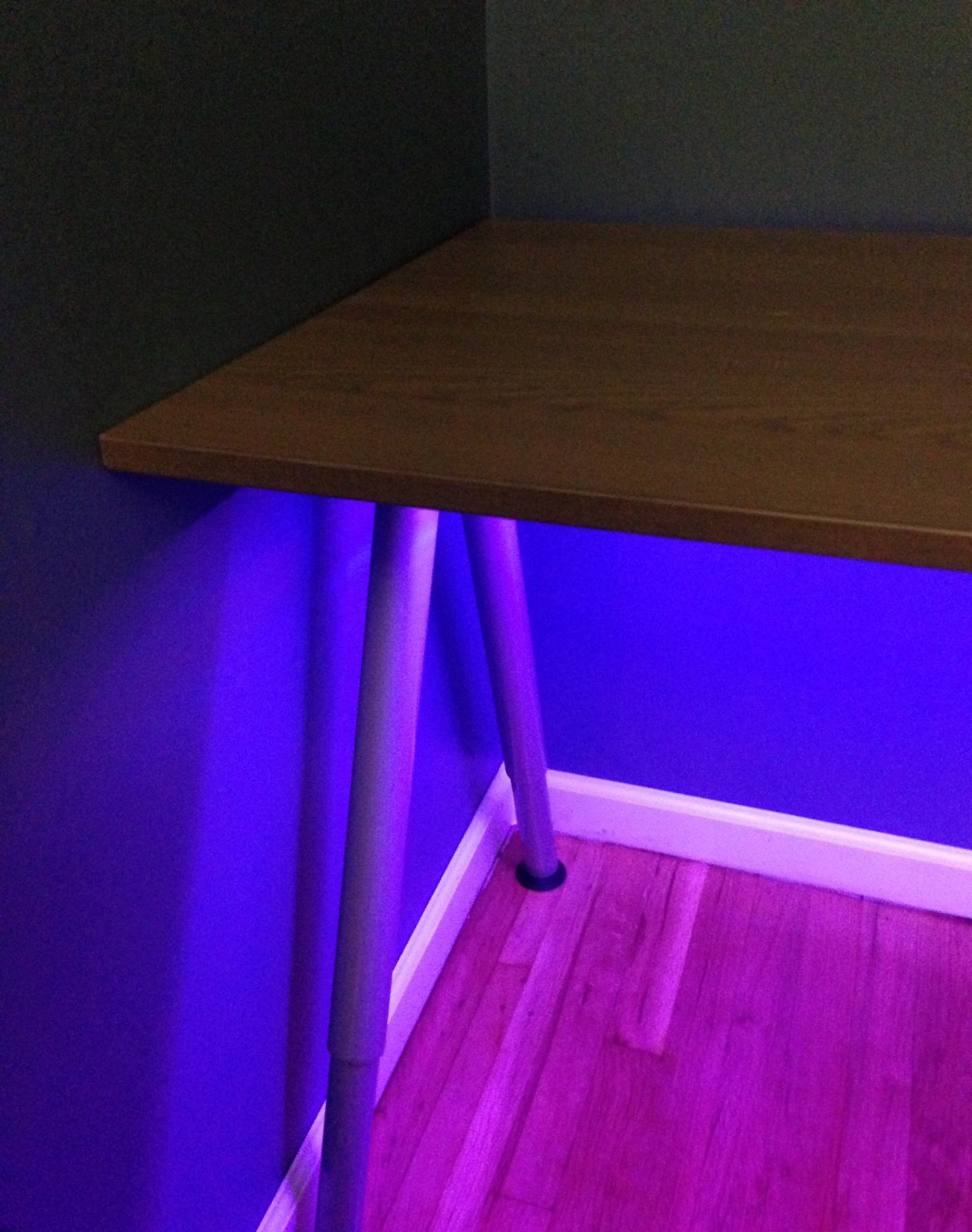 Dioder Leds From Ikea Neat Idea To Place Lights Under The Desk