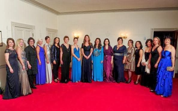 Kate Middleton stuns in Jenny Packham at charity gala.