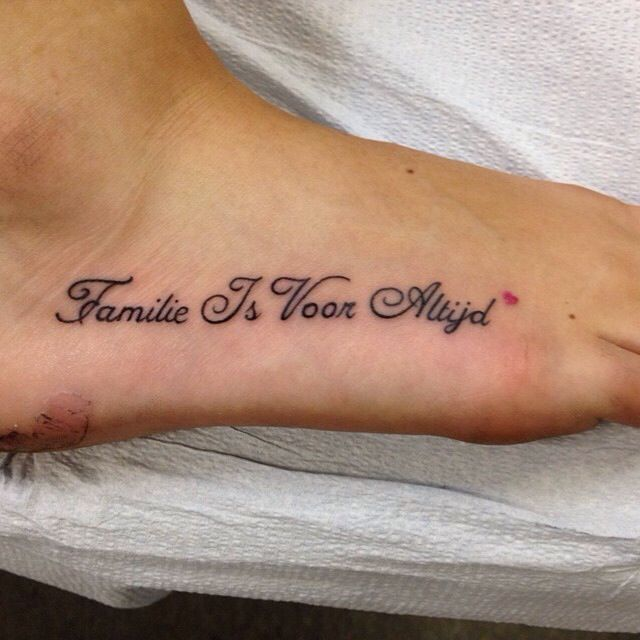 Family Is Forever In Dutch 3 Family Tattoos Dutch Tattoo Tattoos