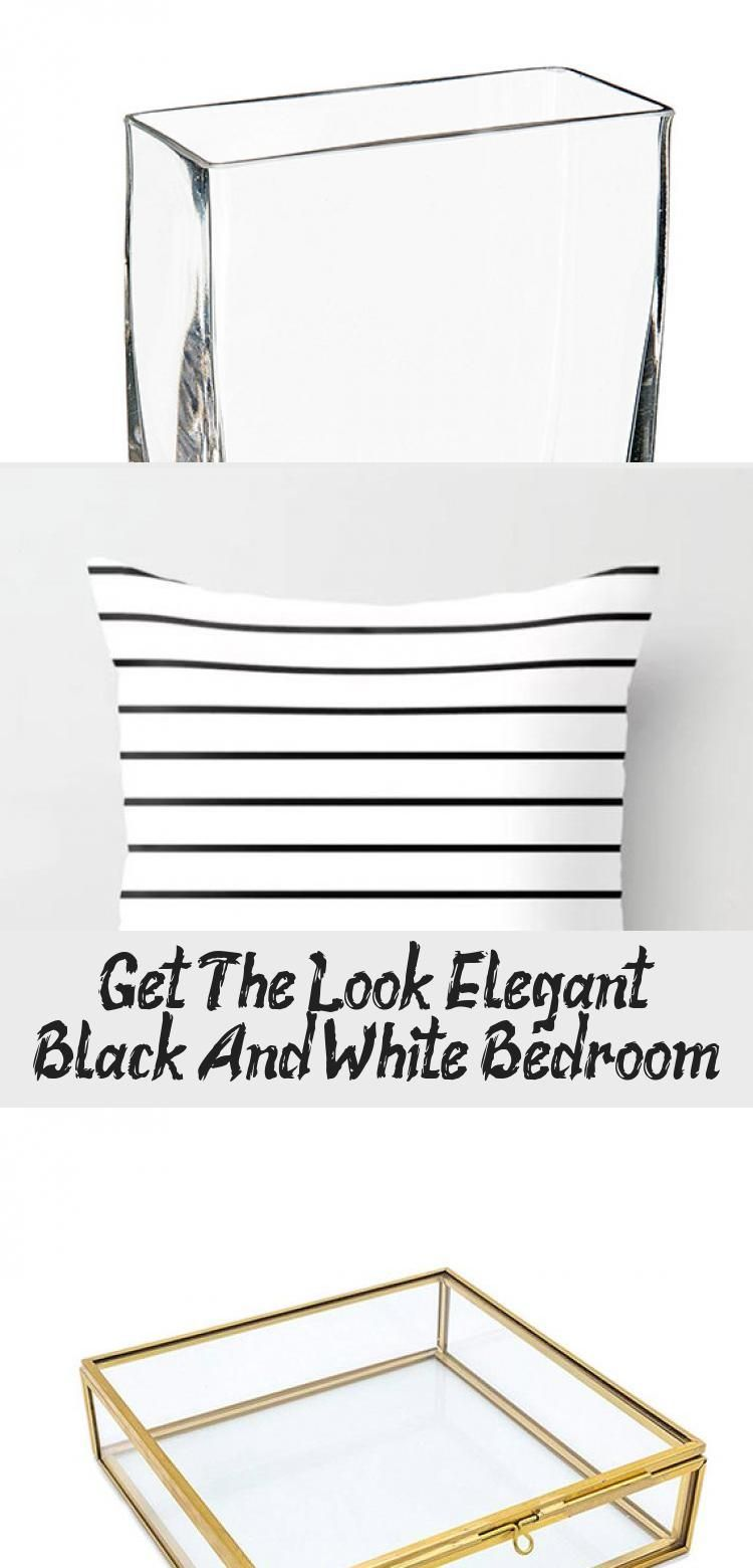 Recreate this elegant black and white bedroom for less using similar products at a