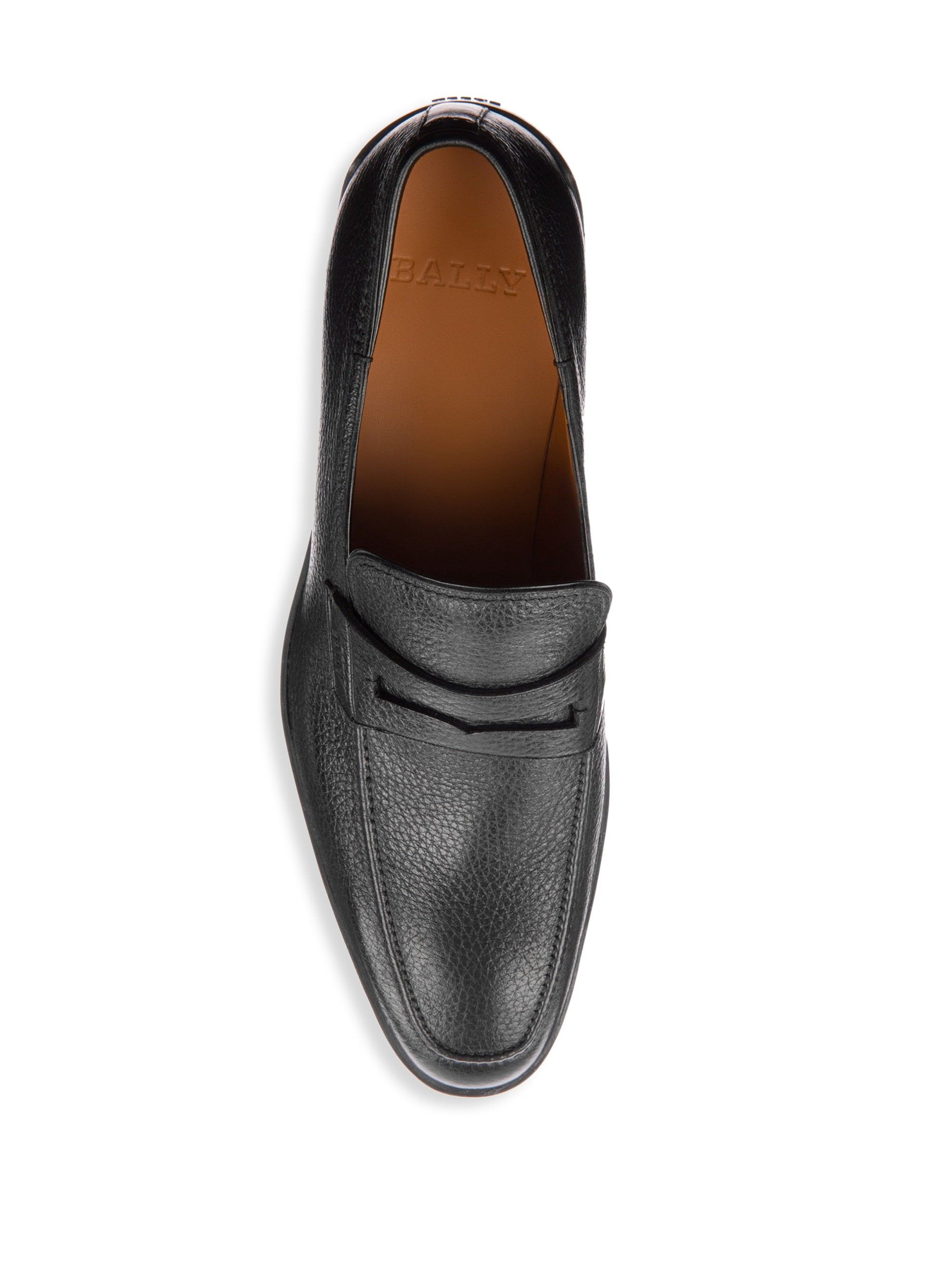 ffad82dc280 Bally Relon Leather Penny Loafers - Black 6.5 in 2018
