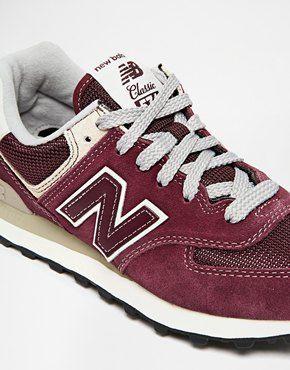 new balance 574 classics burgundy