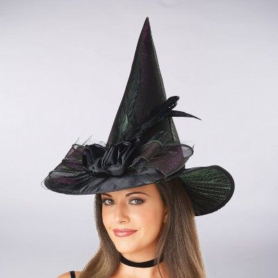 Kids Witch Hat With Bow One Size