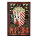 Movie Theatre Marquee Home Cinema Popcorn 24 x 36 Faux Canvas Print | Zazzle.com
