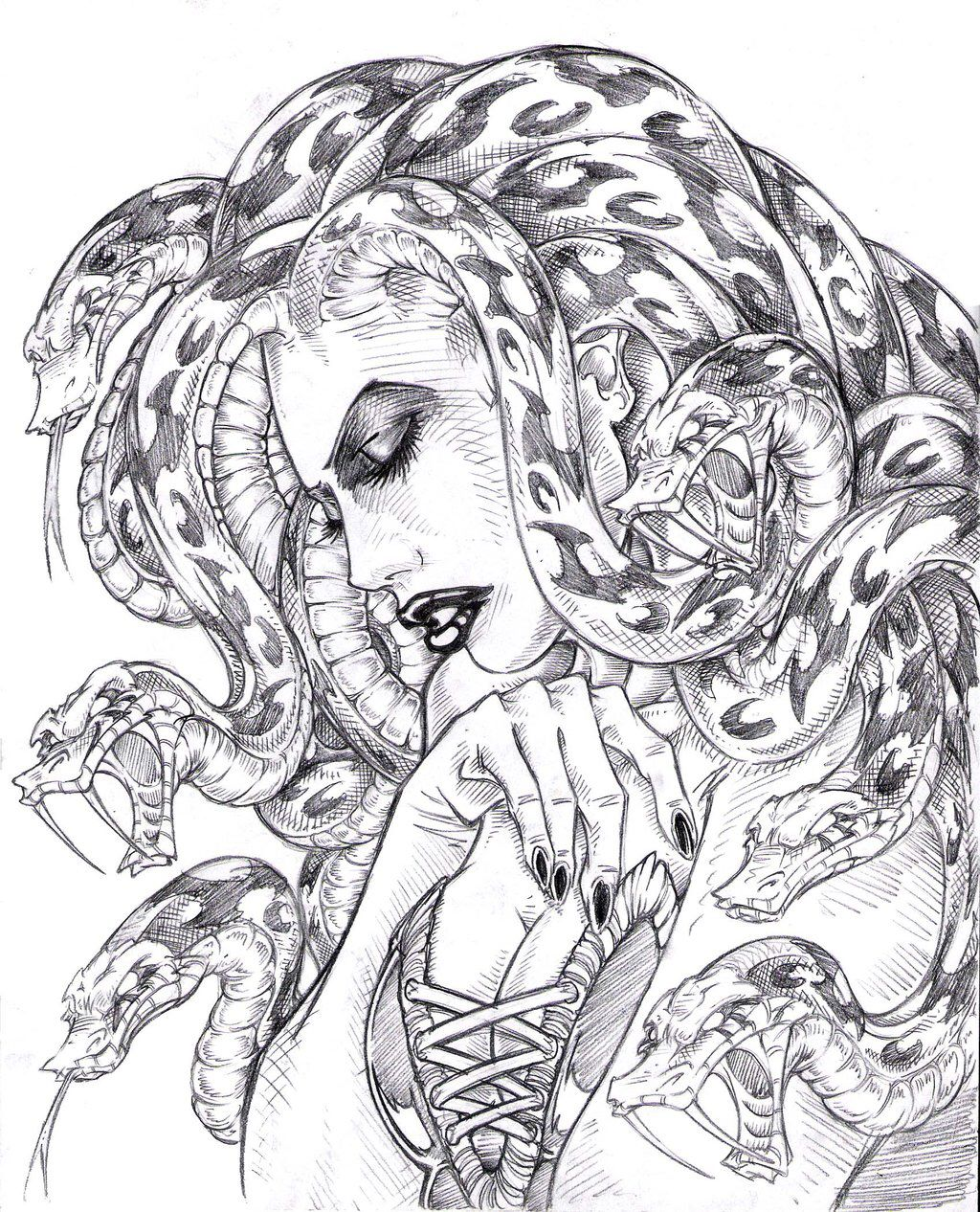 Medusa drawing art pinterest medusa drawings and for Medusa coloring pages