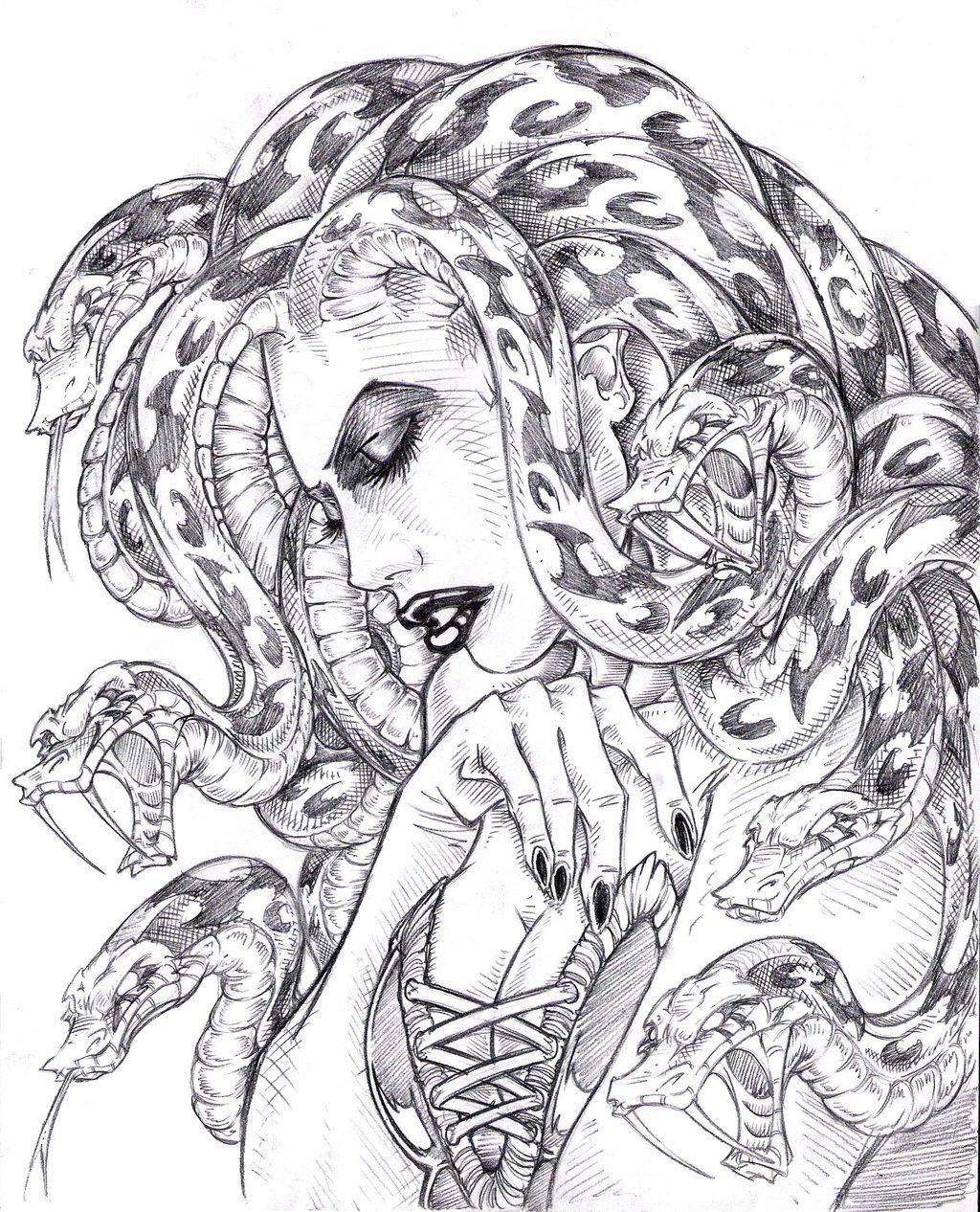 Pin By Nick Teigeler On Medusa Ideas Medusa Drawing Medusa Art Medusa Tattoo