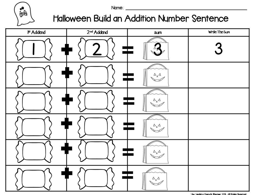 Halloween Build 2 Addend 0 20 Addition Amp Subtraction