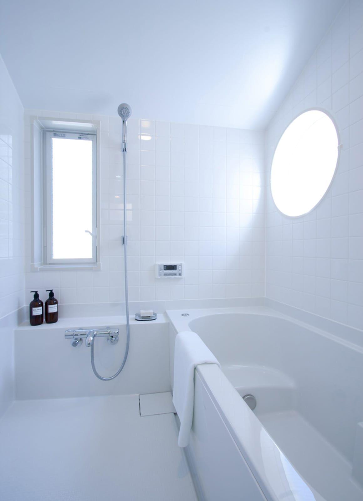 スマイル アバターハウスの浴室 洗面所2 無印良品の家 浴室