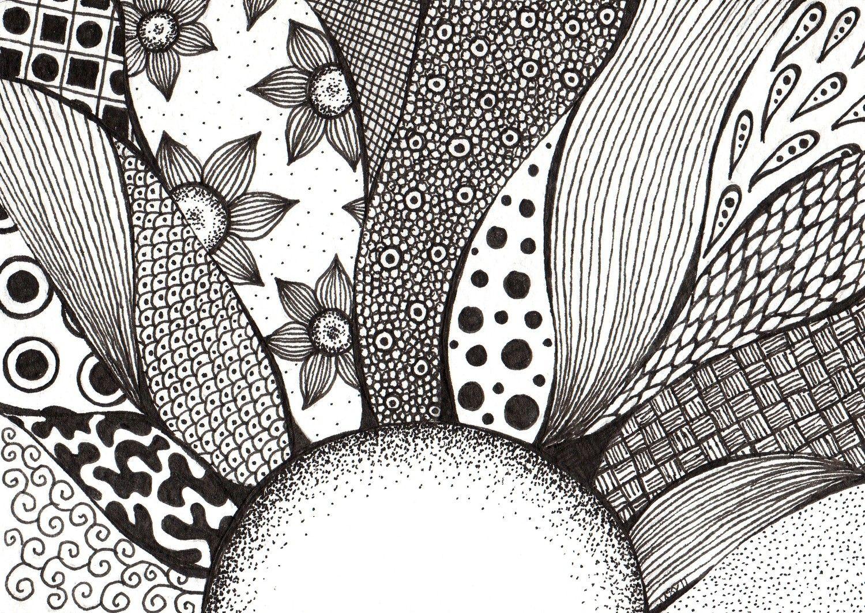 Uncertain tomorrows original x via etsy mandala drawing