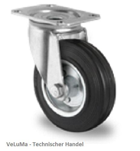 Lenkrollen mit Bremse Bockrollen Schwerlastrollen Transportrollen Kunststoffrad