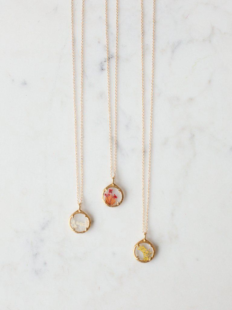 Mini Botanical Necklaces - Heirloom Art Co.