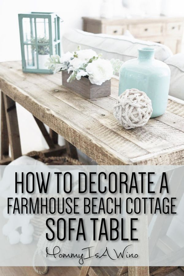 Snag this Look: Beach Cottage Table #beachcottageideas