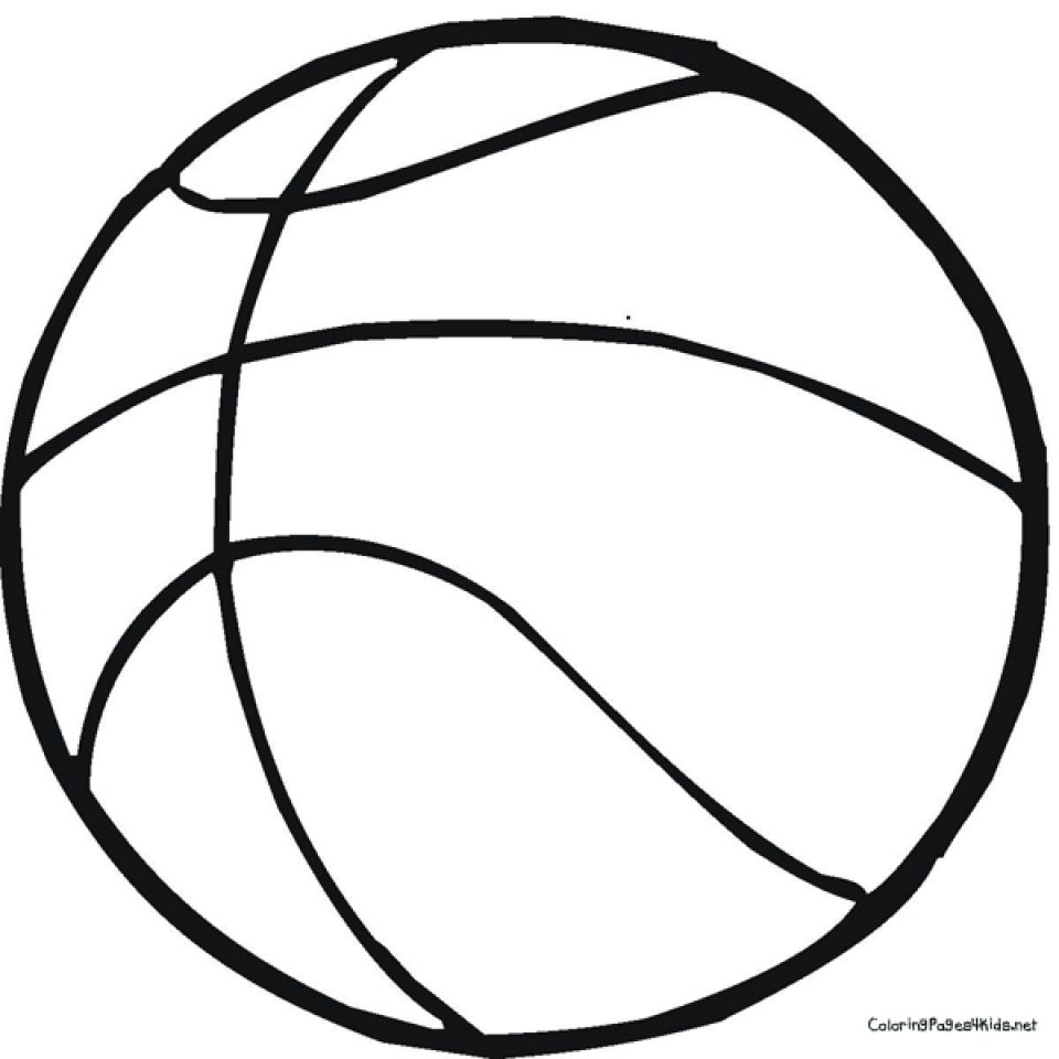 Basketball Hoop Free Colouring Pages Sketch Coloring Page