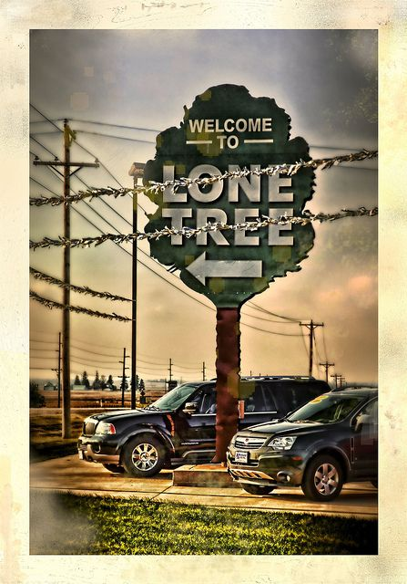Lone Tree, Iowa likes to let you know you have arrived!    My grandparents were born and raised here.