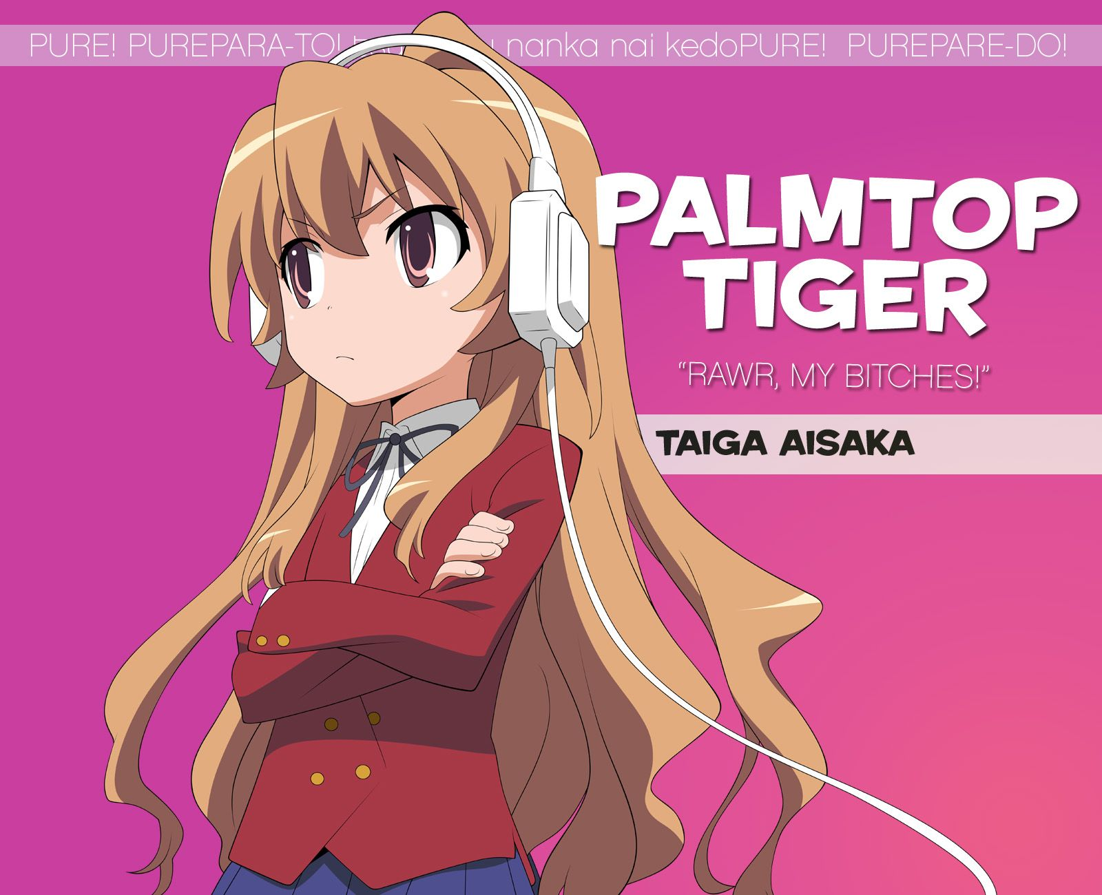 TORADORA! this anime is a slice of life anime, one of my