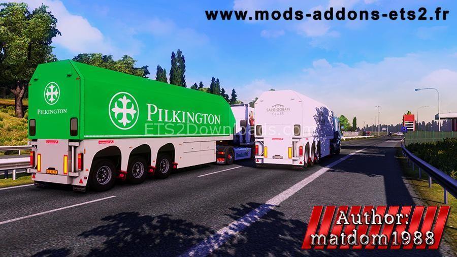 Glass Trailer Pack | Euro Truck Simulator 2 | Edit profile