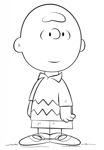 Charlie Brown coloring page from Peanuts category. Select from 20946 ...